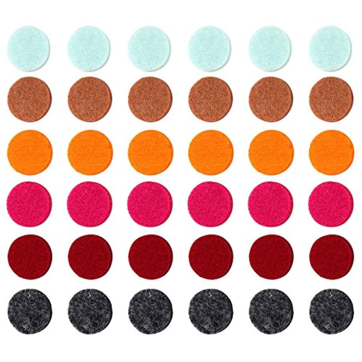 依存する上に築きます印刷するZYsta 36個Refill Pads for Aromatherapy Essential Oil Diffuserロケットネックレス、交換用パッド: Thickened/洗濯可能/高吸水性のアロマディフューザーペンダント