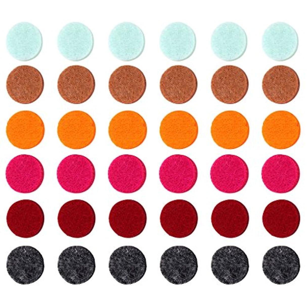 家庭教師絶望滑り台ZYsta 36個Refill Pads for Aromatherapy Essential Oil Diffuserロケットネックレス、交換用パッド: Thickened/洗濯可能/高吸水性のアロマディフューザーペンダント