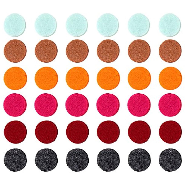 擁する池区画ZYsta 36個Refill Pads for Aromatherapy Essential Oil Diffuserロケットネックレス、交換用パッド: Thickened/洗濯可能/高吸水性のアロマディフューザーペンダント