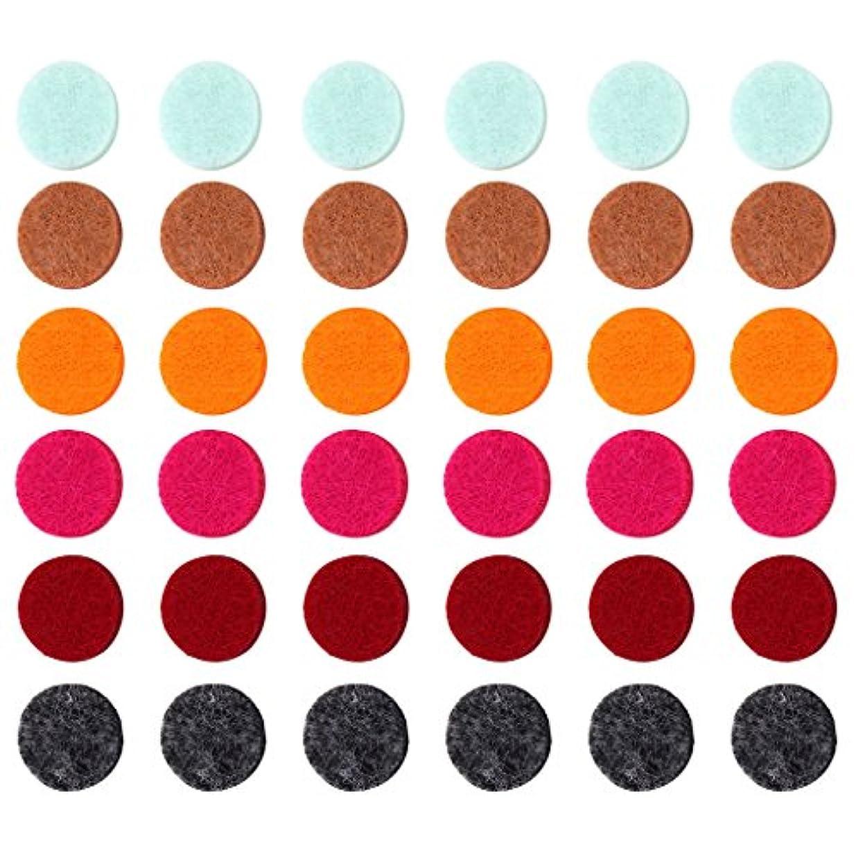 兵隊貫入暫定のZYsta 36個Refill Pads for Aromatherapy Essential Oil Diffuserロケットネックレス、交換用パッド: Thickened/洗濯可能/高吸水性のアロマディフューザーペンダント