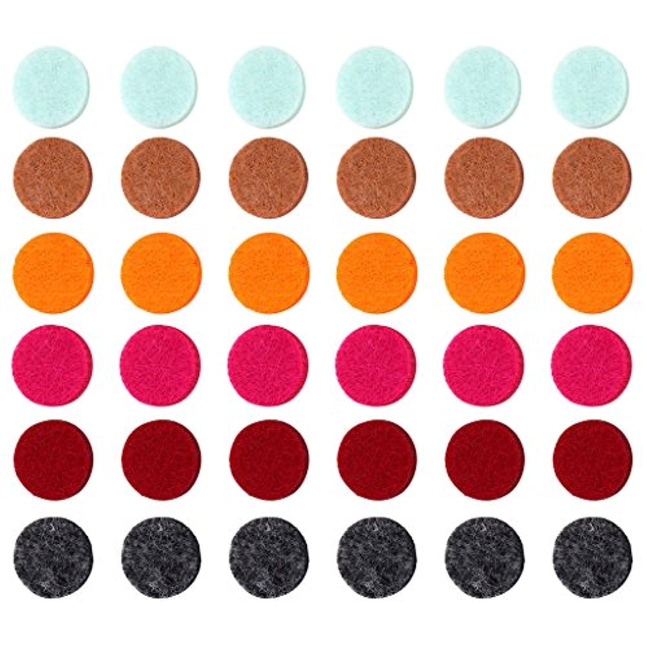 ペリスコープストレージ不当ZYsta 36個Refill Pads for Aromatherapy Essential Oil Diffuserロケットネックレス、交換用パッド: Thickened/洗濯可能/高吸水性のアロマディフューザーペンダント