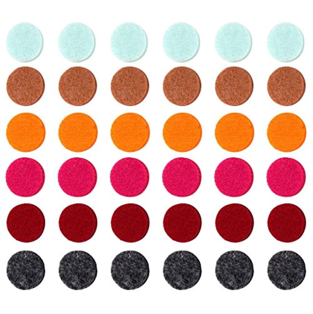 国民平手打ちチョップZYsta 36個Refill Pads for Aromatherapy Essential Oil Diffuserロケットネックレス、交換用パッド: Thickened/洗濯可能/高吸水性のアロマディフューザーペンダント