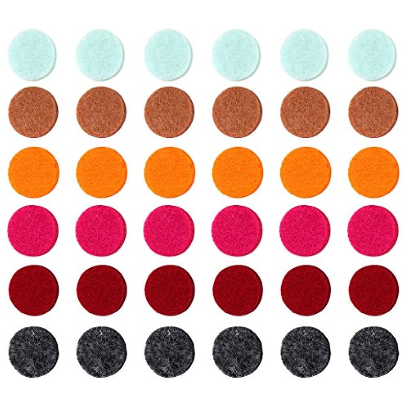 タイヤモーター逮捕ZYsta 36個Refill Pads for Aromatherapy Essential Oil Diffuserロケットネックレス、交換用パッド: Thickened/洗濯可能/高吸水性のアロマディフューザーペンダント