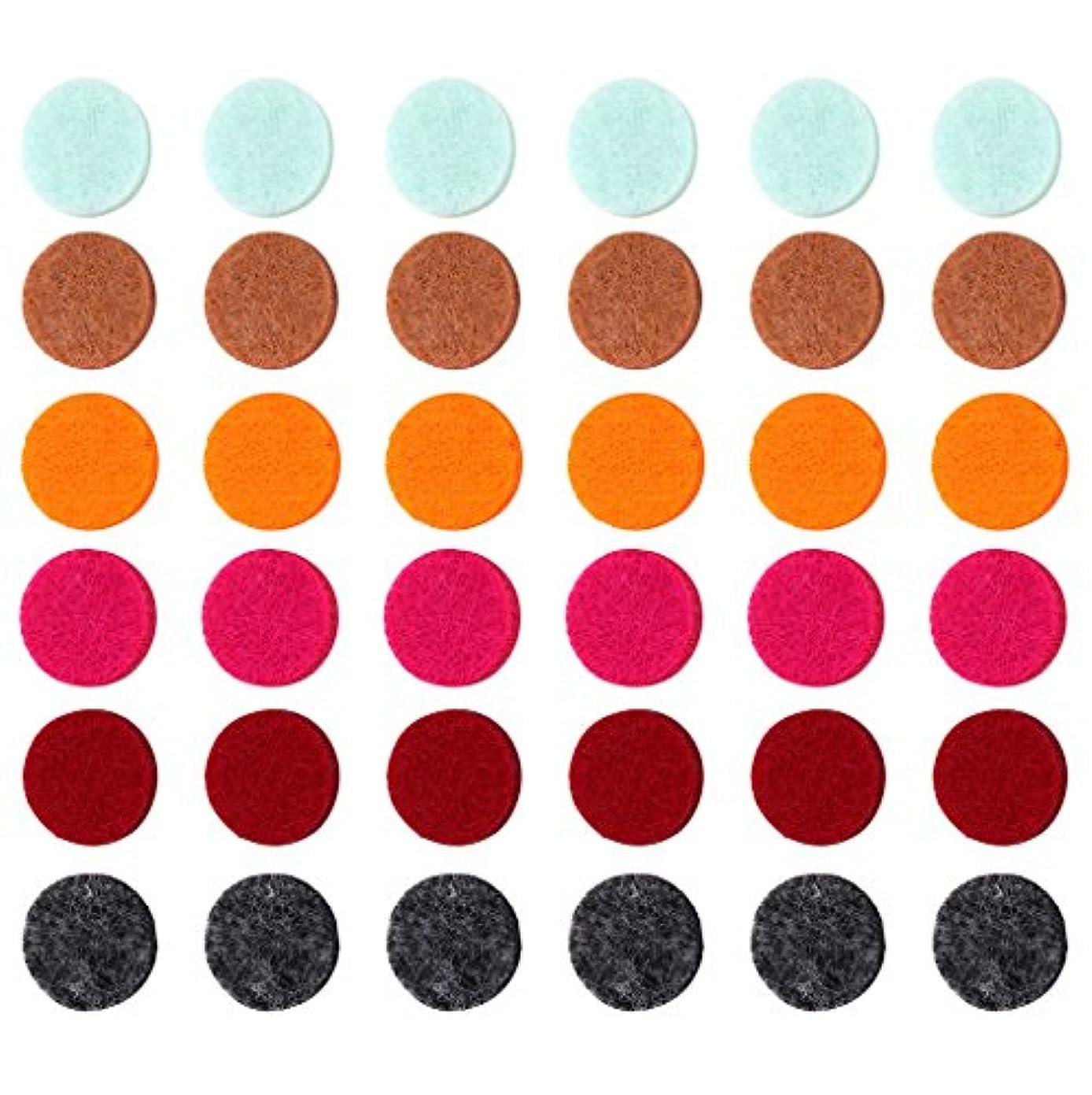 ひねり遠え散逸ZYsta 36個Refill Pads for Aromatherapy Essential Oil Diffuserロケットネックレス、交換用パッド: Thickened/洗濯可能/高吸水性のアロマディフューザーペンダント