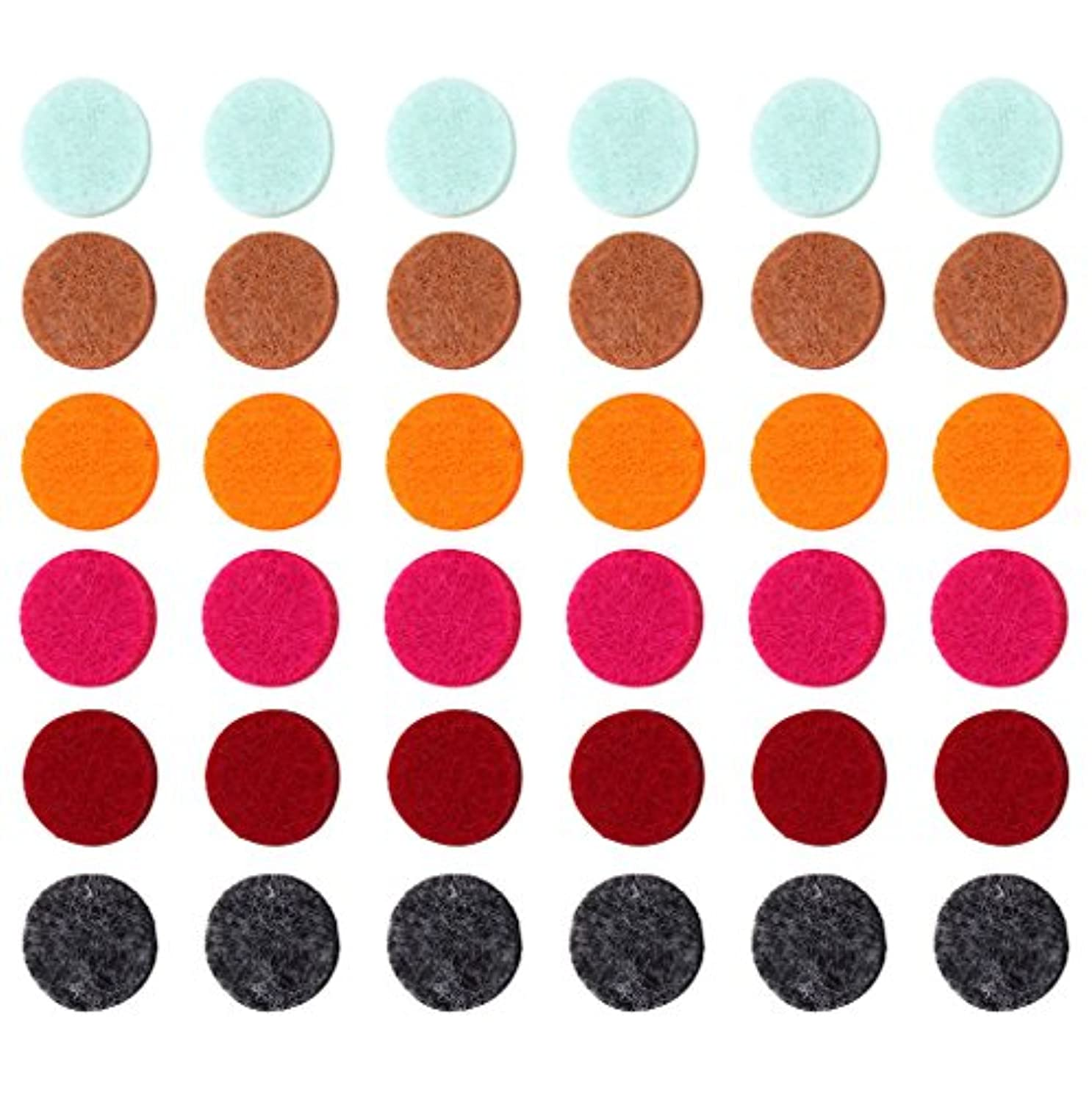 しなやかなどこでも実現可能性ZYsta 36個Refill Pads for Aromatherapy Essential Oil Diffuserロケットネックレス、交換用パッド: Thickened/洗濯可能/高吸水性のアロマディフューザーペンダント