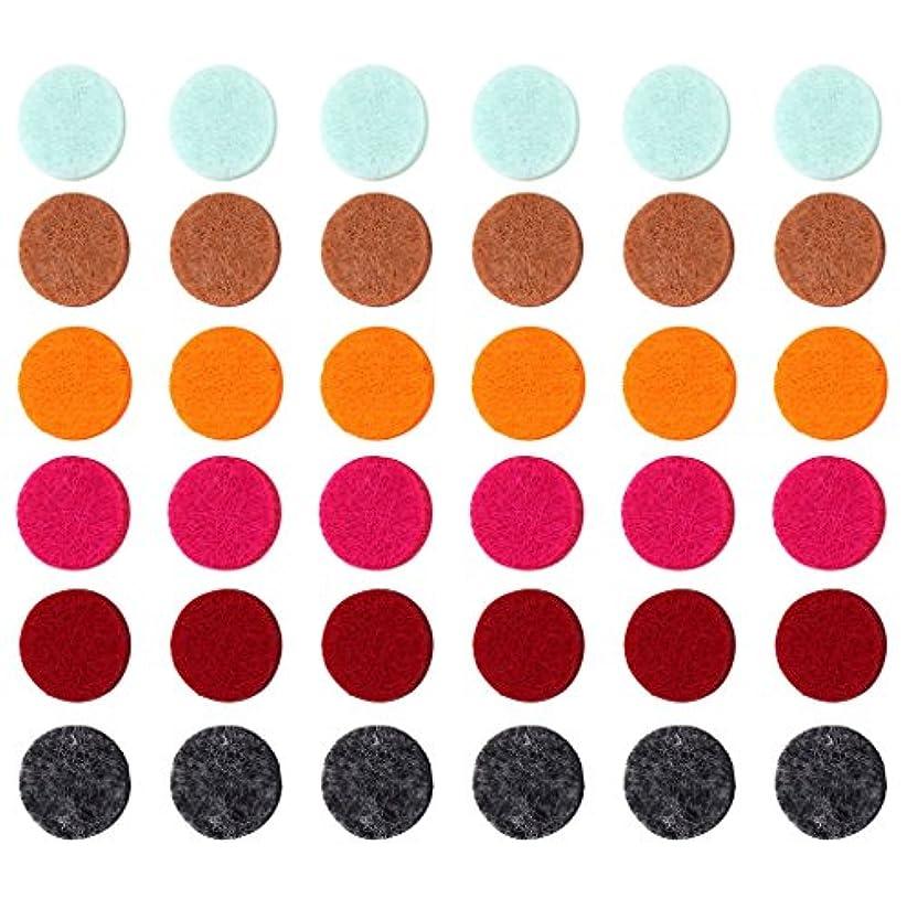 類似性拒絶する手伝うZYsta 36個Refill Pads for Aromatherapy Essential Oil Diffuserロケットネックレス、交換用パッド: Thickened/洗濯可能/高吸水性のアロマディフューザーペンダント