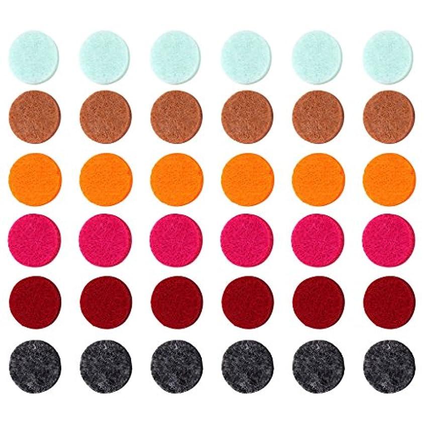 配置敵離れたZYsta 36個Refill Pads for Aromatherapy Essential Oil Diffuserロケットネックレス、交換用パッド: Thickened/洗濯可能/高吸水性のアロマディフューザーペンダント