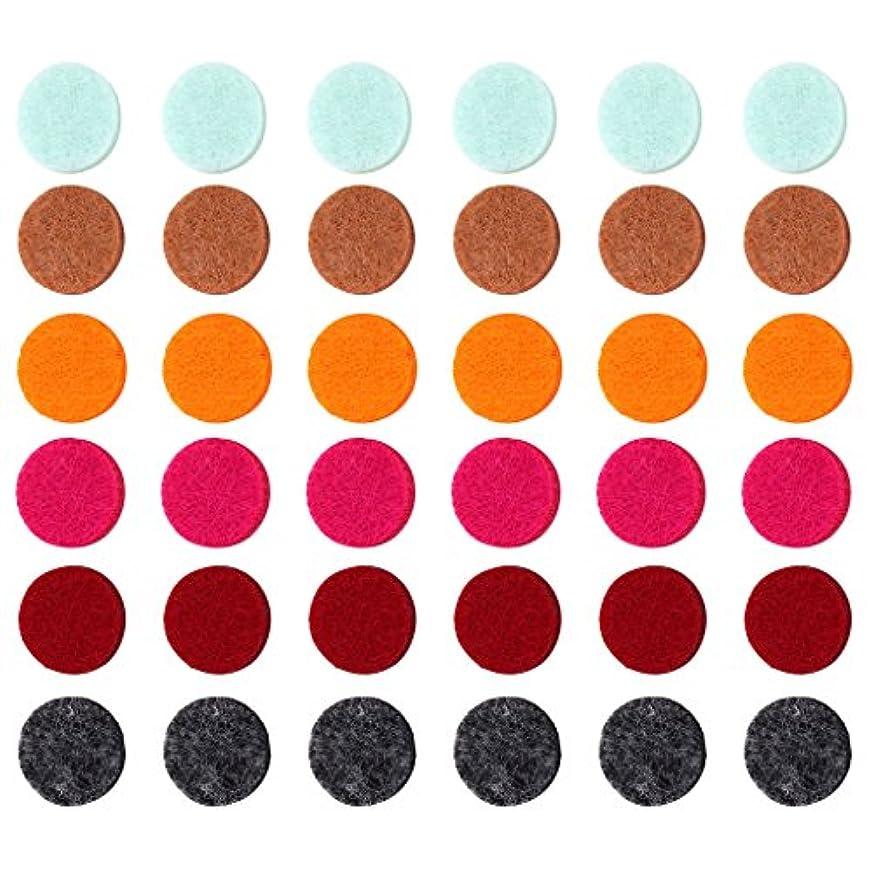 乙女レンダリングレルムZYsta 36個Refill Pads for Aromatherapy Essential Oil Diffuserロケットネックレス、交換用パッド: Thickened/洗濯可能/高吸水性のアロマディフューザーペンダント