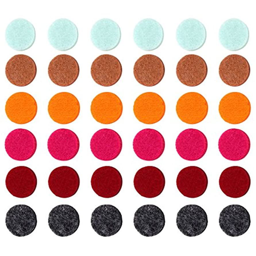 格差経験高速道路ZYsta 36個Refill Pads for Aromatherapy Essential Oil Diffuserロケットネックレス、交換用パッド: Thickened/洗濯可能/高吸水性のアロマディフューザーペンダント