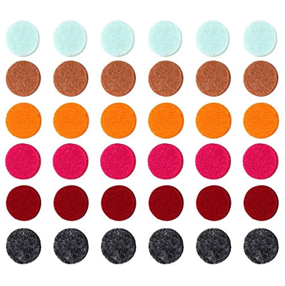仲良し前投薬ポンプZYsta 36個Refill Pads for Aromatherapy Essential Oil Diffuserロケットネックレス、交換用パッド: Thickened/洗濯可能/高吸水性のアロマディフューザーペンダント
