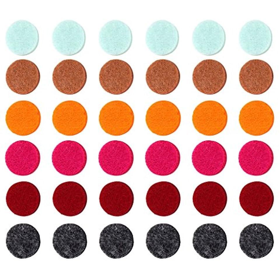 測る推測歩くZYsta 36個Refill Pads for Aromatherapy Essential Oil Diffuserロケットネックレス、交換用パッド: Thickened/洗濯可能/高吸水性のアロマディフューザーペンダント