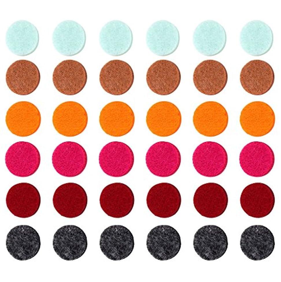 加速する不機嫌ブランチZYsta 36個Refill Pads for Aromatherapy Essential Oil Diffuserロケットネックレス、交換用パッド: Thickened/洗濯可能/高吸水性のアロマディフューザーペンダント