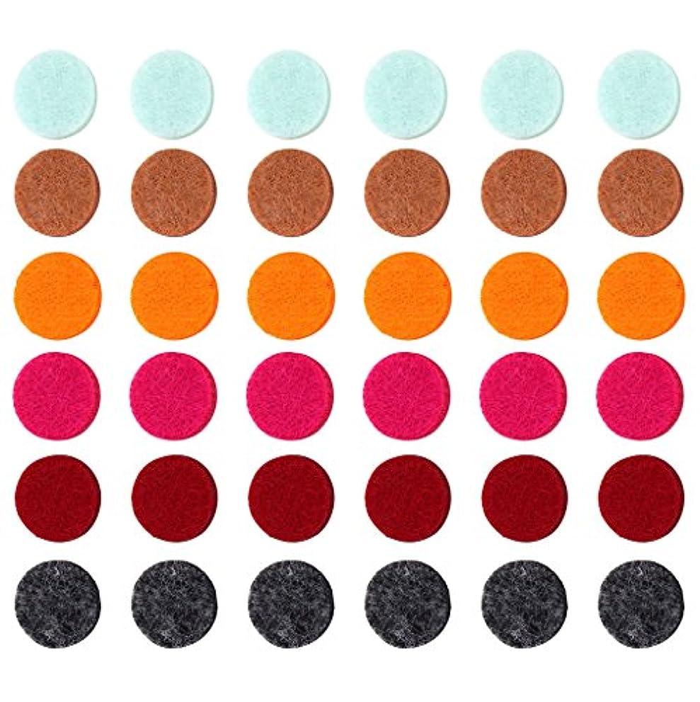 セント哀れな平手打ちZYsta 36個Refill Pads for Aromatherapy Essential Oil Diffuserロケットネックレス、交換用パッド: Thickened/洗濯可能/高吸水性のアロマディフューザーペンダント