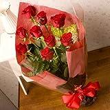 翌日配達お花屋さん ニューヨークスタイルのフラワーギフト♪スタイリッシュで大人気♪送料無料♪シンフォニー(赤バラ花束)10 Stem of Red Roses bouqet