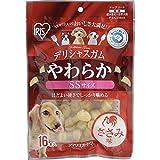 アイリスオーヤマ 犬用おやつ デリシャスガム やわらか ささみ味 SSサイズ 16本入