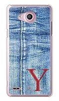 ガールズネオ au Qua phone PX LGV33 ケース (デニム イニシャル 1 レッド Y) LG Electronics LGV33-PC-DNM-RE1Y
