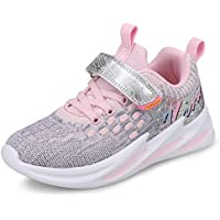 UOVO Boys Girls Running Shoes Hiking Shoes Kids Sneakers Athletic Sport Little Boys Tennis Shoes