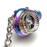 タービンアクション+サウンドLEDキーホルダー:2ボタンUSB充電可能モデル:マイクロUSBケーブルセット:チタンクロームカラー