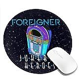 フォリナー Foreigner マウスパッド丸型 個性的 おしゃれ 柔軟 ゴム製裏面 ゲーミングマウスパッド PC ノートパソコン オフィス用 円形 デスクマット 滑り止め 耐久性が良い おもしろいパターン