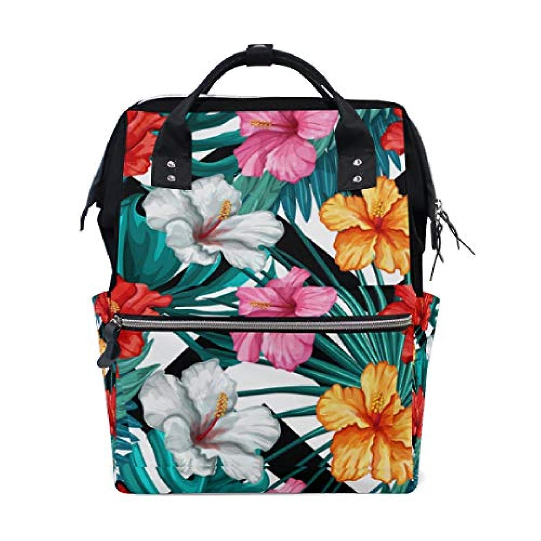 ママバッグ マザーズバッグ リュックサック ハンドバッグ 旅行用 木ノ葉と花柄 多色 ファション
