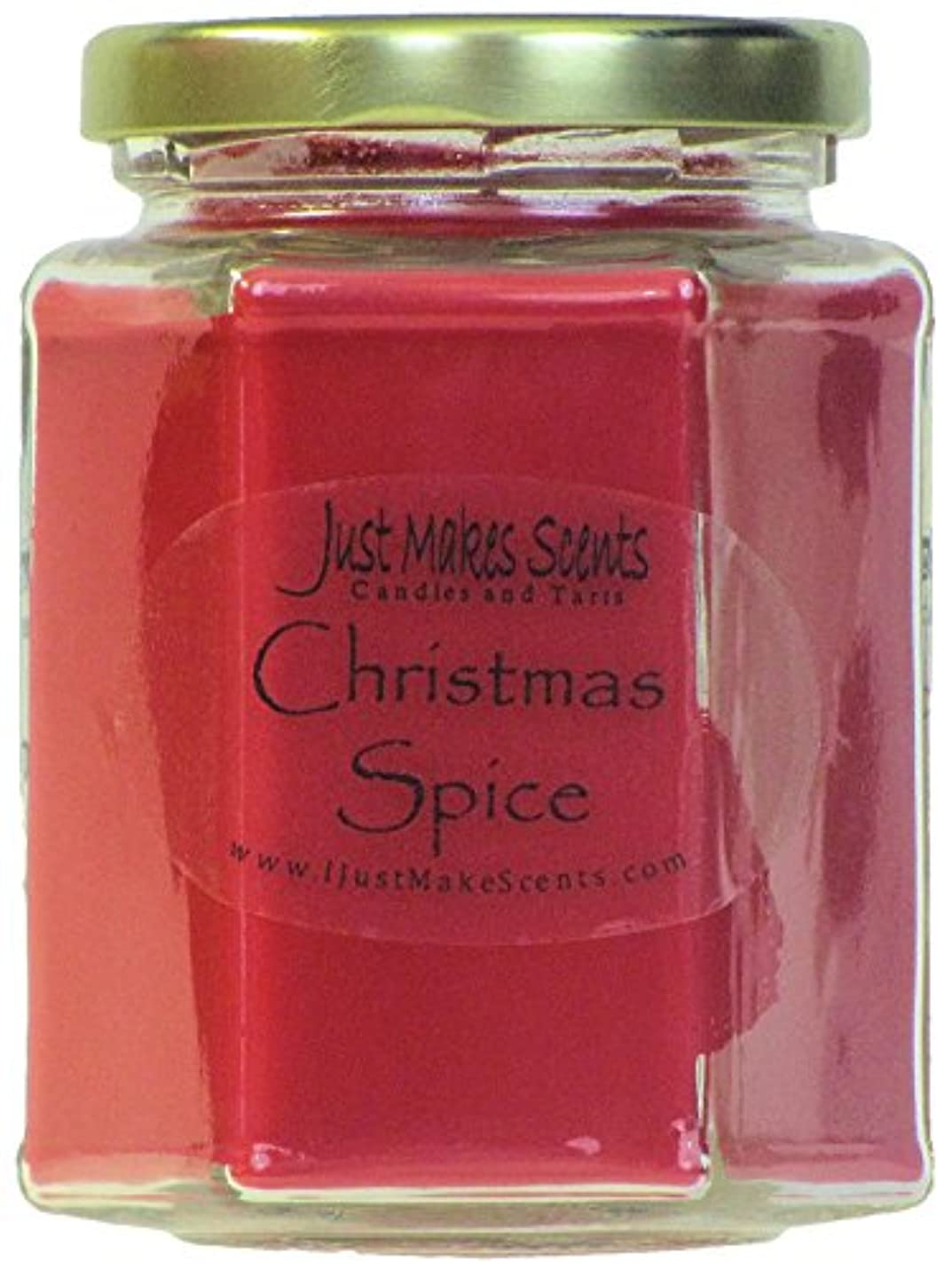 排泄物呼吸するわずかにクリスマスSpice香りつきBlended Soy Candle by Just Makes Scents 1 Candle レッド C02009HRDD