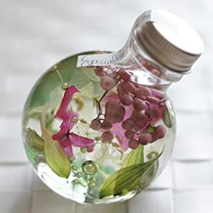ハーバリウム 丸ボトル (グリーンピンク)の関連商品10