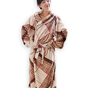 グルーニー Groony 着る毛布 【改良前】 男女兼用 フリーサイズ ロング丈 ベージュチェック