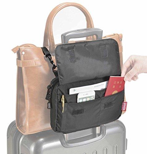 GOWELL (ゴーウェル) 旅行用品・旅行小物 ブラック 19×3.5×27cm (ベルトで荷物を固定) GW-3102-009
