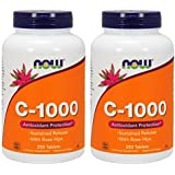 [海外直送品] ナウフーズ 【2個セット】   ビタミンC1000 ローズヒップ タイムリリース 250粒 Vitamin C-1000 Sust...