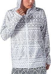 PONTAPES(ポンタペス) 無地8色/柄12色 メンズ レディース ラッシュガード パーカー PR-4200 OUT2-GRY Lサイズ 長袖 UVカット UPF50 + 指穴つき 水着 釣り 人気 オルタナティブ柄