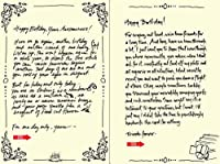 Quiplip Handwritten Yours Truly Birthday Cards 6-Pack (YT02106PCK) [並行輸入品]