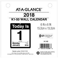 AT-A-GLANCE Daily Wall Calendar Refill January 2018 - December 2018 6 x 6 Today Is Design (K150) [並行輸入品]