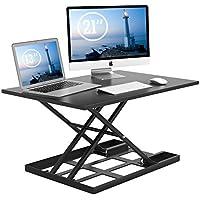 1homefurnit Standing Desk Converter ? 32x22 Inch Extra Large Height Adjustable Sit Stand up Desk Converter Instantly Convert any Desk into Standing up Workstation [並行輸入品]