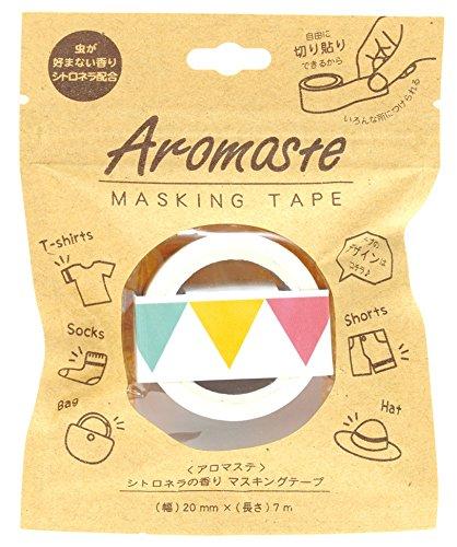ノルコーポレーション マスキングテープ 香り付き シトロネラの香り AOZ-1-05 ガーランド