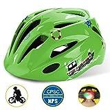 [Base Camp] [子供の自転車のヘルメット、調整可能なよちよち/青少年自転車ヘルメット CPC 認定安全 LED 安全ライトの男の子のため] (並行輸入品)