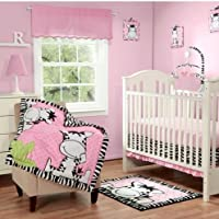 Babyboom I Luv Zebras 3 Piece Bedding Set Pink by Baby Boom