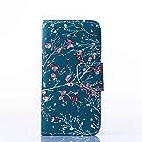 UNEXTATI Galaxy J2 ケース 高品質 合皮レザー ケース 手帳型ケース カバー カードホルダー 付き スタンド 防塵 防水 Samsung Galaxy J2ケース Case (P15 グリーン)