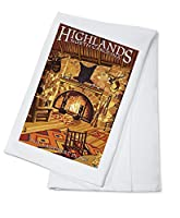 Highlands、ノースカロライナ州 – Lodge内部 Cotton Towel LANT-42226-TL