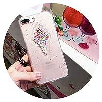 カラフルなキャンディーアイスクリーム6携帯電話ケースiPhoneのため 7/6 s /プラスかわいいレディースおしゃれ8倍ソフト 適用,透明,Xsmax 6.5