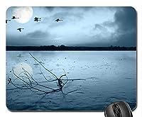 美しいかっこいい鳥のマウスパッド、渡り鳥のマウスパッド、マウスパッド(湖面のマウスパッド)