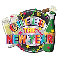 Beistle 88081 Printed Hi-Gloss Foil New Year Sign, 24cm by 28cm, 1 Per Package