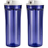 ISPRING HC12X2 Transparent Water Filter Housings 25cm RO/Aquarium, 2-Pack