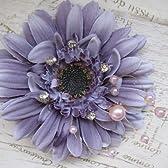 ◆着物やドレスに造花のフラワーデザイナーの2WAYヘアドレス&ブローチ|