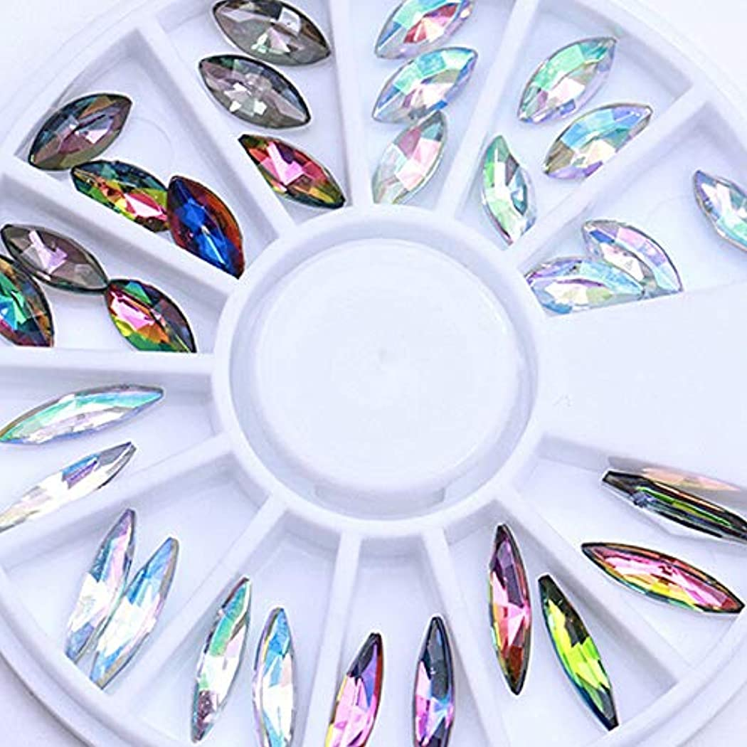 直接直立シャイニングFidgetGear カメレオンABカラーマーキスラインストーンフラット3Dネイルアート装飾ホイールDIY