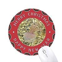 海洋クラゲ科学は自然の写真 円形滑りゴムのクリスマスマウスパッド
