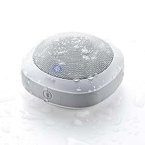 サンワダイレクト Bluetoothワイヤレススピーカー お風呂スピーカー Bluetooth4.1 防水 音楽 通話 対応 ホワイト 400-SP060W