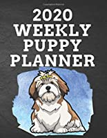 """2020 WEEKLY PUPPY PLANNER: 8.5""""x 11"""" 115 Page Lhasa Apso Dog Lover Gift with Blue on Black Back Academic Year At A Glance Planner Calendar With To-Do List and Organizer And Vertical Dated Pages Great for Lhasa Apso Grandpuppy Lovers (Lhasa Apso  2020 Planners)"""