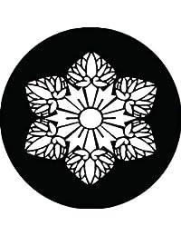 家紋シール 紀州六つ葵紋 布タイプ 直径40mm 6枚セット NS4-0859