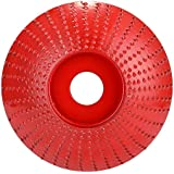 Honeytecs Steel Wood Angle Grinding Wheel Sanding Carving Rotary Tool Abrasive Disc for Angle Grinder with 16mm Bore NO.45