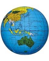 地球儀ボール40cm(ふくらましサイズ直径約25cm)(ブルー)/BGP-140